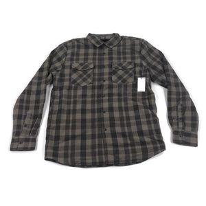 Volcom Mens Flannel Sherpa Shirt Jacket